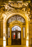 The door in a baroque style in Wupperta-Barmen Royalty Free Stock Photo