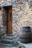 Door and barrel Stock Image