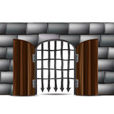 Door with bars Royalty Free Stock Image