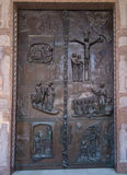 Door of the Basilica of the Annunciation in Nazareth Stock Image
