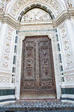 Door of basilica Santa Croce Stock Image