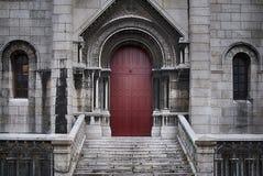 Door ,Basilique du Sacre Coeur in Paris, France Stock Photo