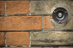 Door bell button Royalty Free Stock Images