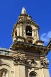 St. Publius Parish Church on sunny day in Floriana, Malta stock image