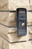 Door bell on wall Stock Photography