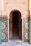 Door in the Ben Youssef Medersa in Marrakesh Stock Image
