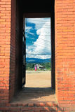 The door in bhaktapur, Nepal Stock Photography