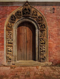 Door at Bhaktapur, Nepal. Decorative door at Bhaktapur, Nepal royalty free stock image