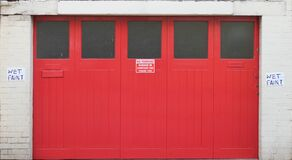 door big red Stock Photo