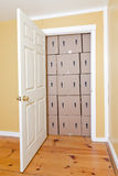 Door Blocked by Boxes Royalty Free Stock Photography