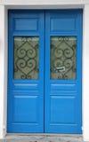 The door of the blue Stock Photo