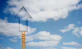 Door in blue sky Royalty Free Stock Image