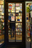 Door of a bookshop in Charing Cross Road, London Royalty Free Stock Image