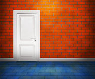 Door in the Brick Wall Stock Image