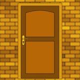 Door in brick wall Stock Image