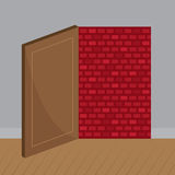 Door Brick Wall Royalty Free Stock Photos
