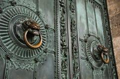 Door in bronze Montmartre Stock Photo