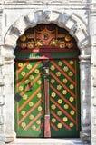 The door of the Brotherhood of blackheads in Tallinn. Estonia stock image