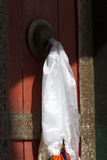 Door at a Buddhist monastery temple Stock Photo