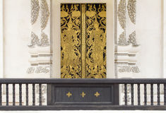Door of buddhist temple Royalty Free Stock Photos