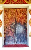 Door of Buddhist temple Royalty Free Stock Photos