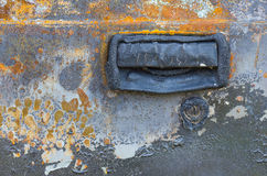 Door car damaged by fires. Royalty Free Stock Images