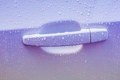 Door car with drops of rain Royalty Free Stock Photos