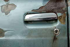 Door car is old. Door car is rusty of old car Stock Photos