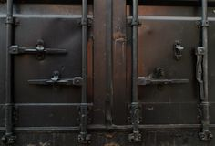 Door of  cargo container Stock Photography