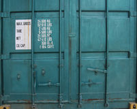 Door of cargo container box Royalty Free Stock Photos