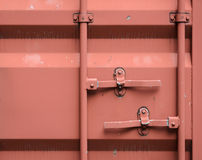 Door of cargo container box background Stock Photos