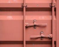 Door of cargo container box background Stock Photos