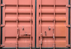 Door of cargo container box background Royalty Free Stock Photos