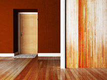 A door and a carpet near it Stock Images