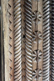door carving in Romania stock image
