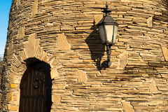 Door in castle wall Royalty Free Stock Photo