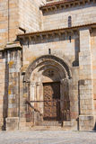 Door of the cathedral in Braga Stock Photography