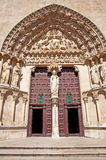 Door of the cathedral of Burgos Royalty Free Stock Photo