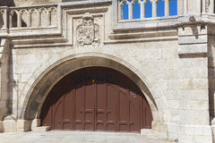 Door in the cathedral of Burgos Royalty Free Stock Photography