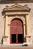 Door of Cathedral. Cartagena de Indias. Colombia royalty free stock images