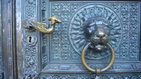 Door of the Cathedral of Cologne. Detail of the door opener of the Cathedral of Cologne royalty free stock photography