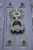 Door of Cathedral, detail. Santiago de Compostela Stock Photos