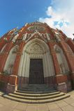 Door on cathedral in Osijek Royalty Free Stock Image