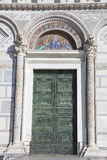 Door in the Cathedral of Pisa Royalty Free Stock Photography