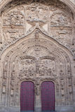 Door of cathedral in Salamanca Stock Images