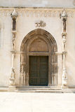 Door of Cathedral of St.  Jamers in Sibenik Stock Photos