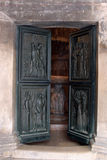 Door of the Cathedral of St. James in Sibenik, Croatia Royalty Free Stock Photo