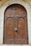 Door of the cathedral in Tbilisi. Royalty Free Stock Image