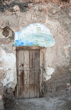 Door in a cave Stock Photography