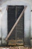 Door of cemetery's chapel Stock Photos